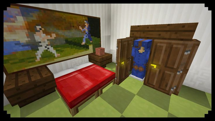 Minecraft  How To Make A Closet  Improved Version