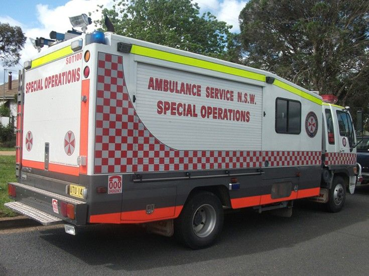 Wagga Wagga Ambulance Service of New South Wales - Special Operations truck (SOT100) based at the headquarters in Wagga Wagga, NSW.