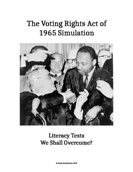 Civil Rights Movement Voting Rights Act Of 1965 Literacy Test