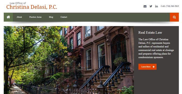 A WordPress build for Brooklyn-based lawyer Christina DeIasi | http://deiasilaw.com.