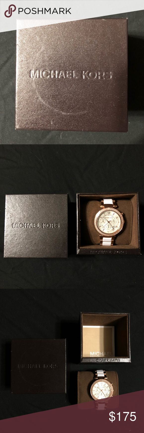 Michael Kors MK5774 Parker RoseGold White Acetate • Oversized Watch  • Push Clasp  • 39mm Case   Brand new Michael Kors watch. Never been worn or adjusted. Michael Kors Jewelry