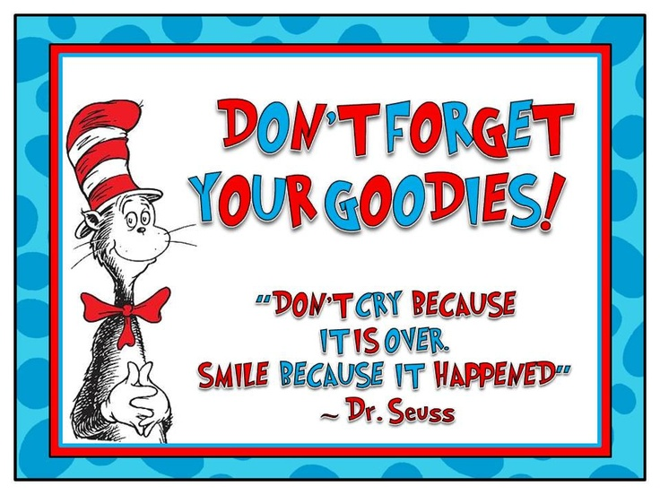 Cat in the hat/Dr. Seuss Goodie Table Sign. $10.00, via Etsy.