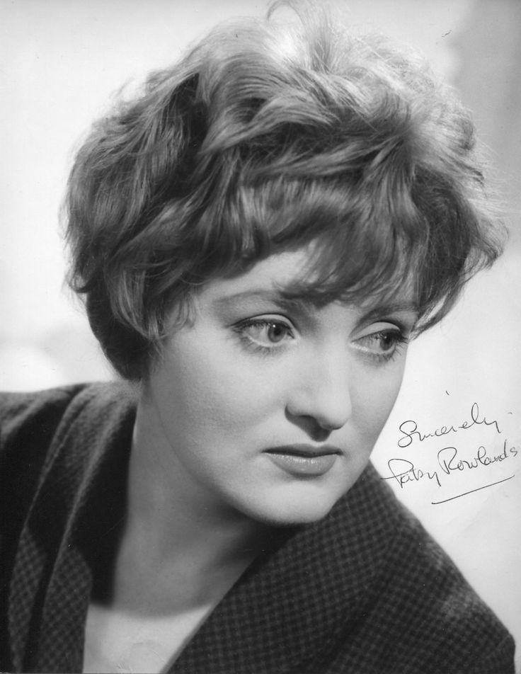 "PATSY ROWLANDS ~ Born: Jan 19, 1931 in Palmers Green, London. Died: Jan 22, 2005 (aged 74) from breast cancer. Was an English actress who appeared in ten Carry On... films, beginning w/ ""Carry on Again Doctor"" (1969), followed by ""Loving"" (1970), ""Henry"" (1971), ""Matron"" (1972) & ""Abroad"" (1972). Her final Carry On... role was ""Carry on Behind"" (1975). She also appeared in the successful British sitcom ""Bless This House"" from 1971 to 1976, with fellow Carry On actor...Sid James"