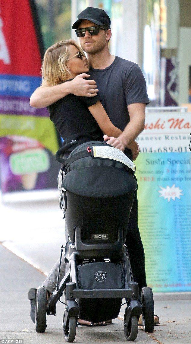 Sam Worthington and Lara Bingle - In Vancouver, Canada.  (9 July 2015)