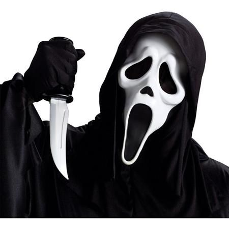 Ghost Face Mask with Knife Adult Halloween Accessory