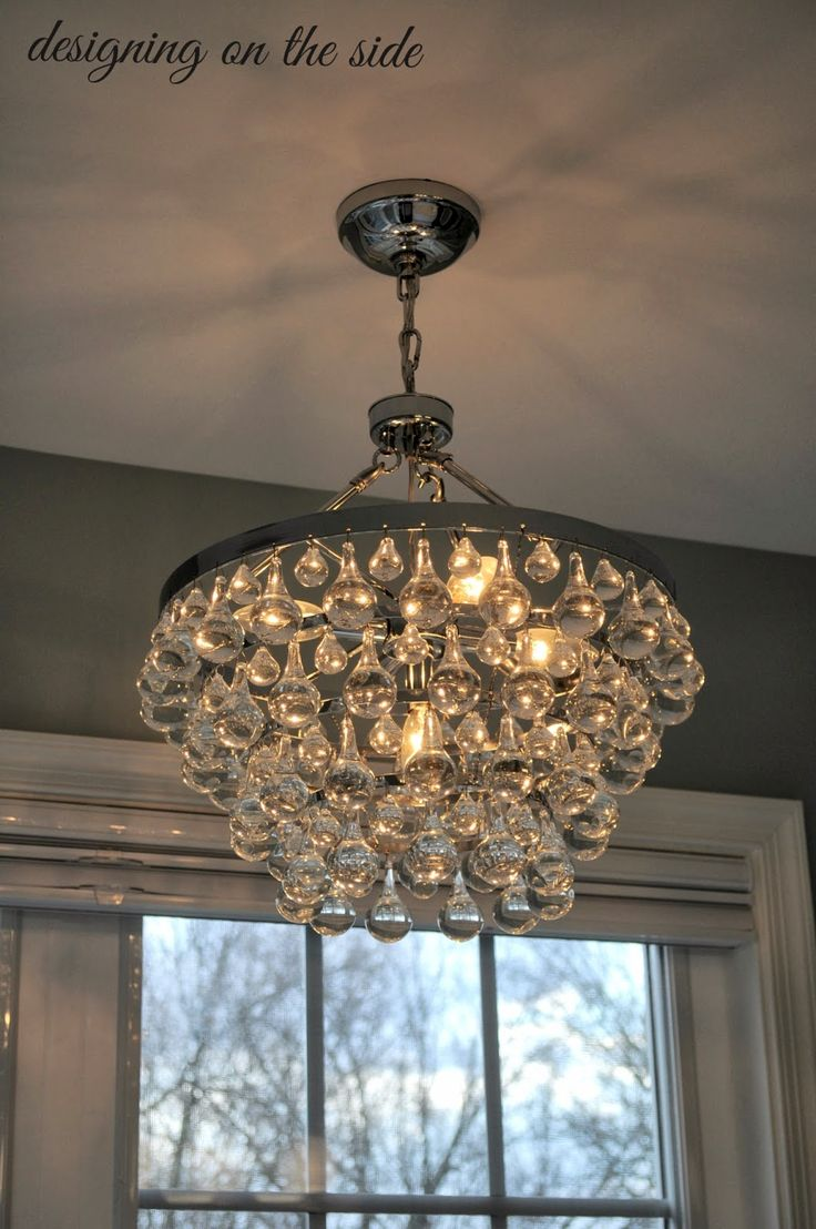 Bathroom Chandelier With Globe Crystals For A More Modern Look