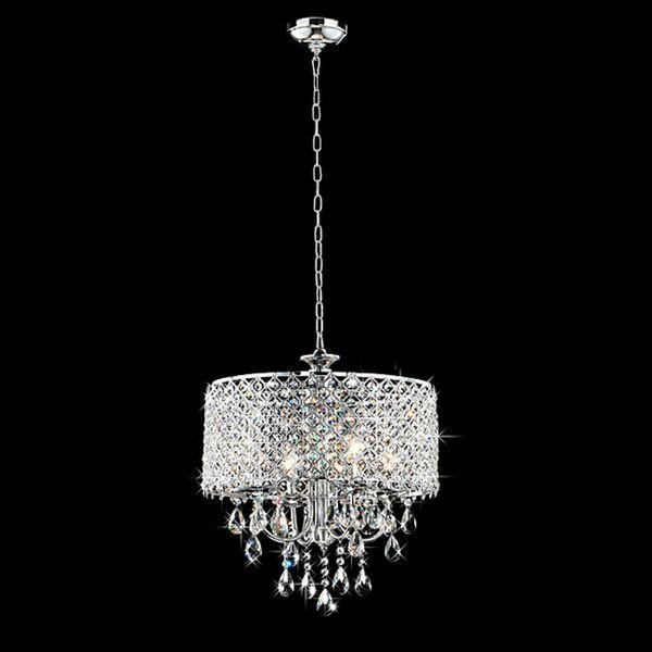 "Chrome Finish 4-light Round Chandelier - Overstock™ Shopping - Great Deals on Otis Designs Chandeliers & Pendants $168 17"" wide"