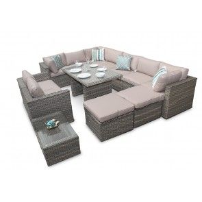 Rattan Sofa Dining Set, Cheap Rattan Garden Furniture, Outdoor Rattan Furniture, Rattan Corner Sofa Dining Sets