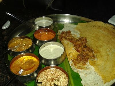 Chicken Chettinad Dosa at Kingdom of Dreams!