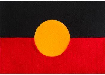 Aboriginal Flag Craft Activity.