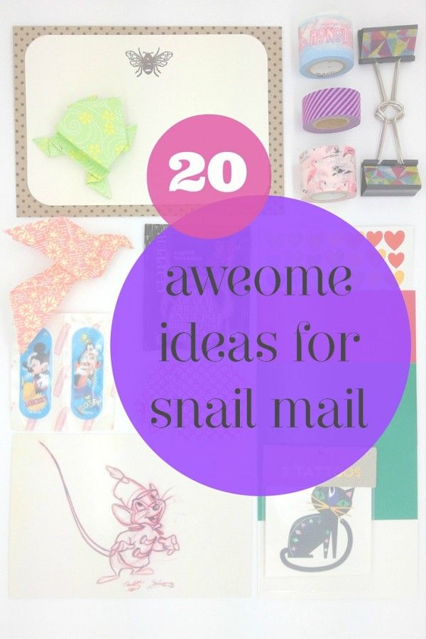 20 awesome ideas for snail mail