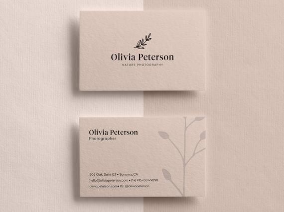 This Is An Instant Digital Download Template Make A Lasting Impression With Cre Business Card Design Minimalist Business Cards Photographer Business Cards