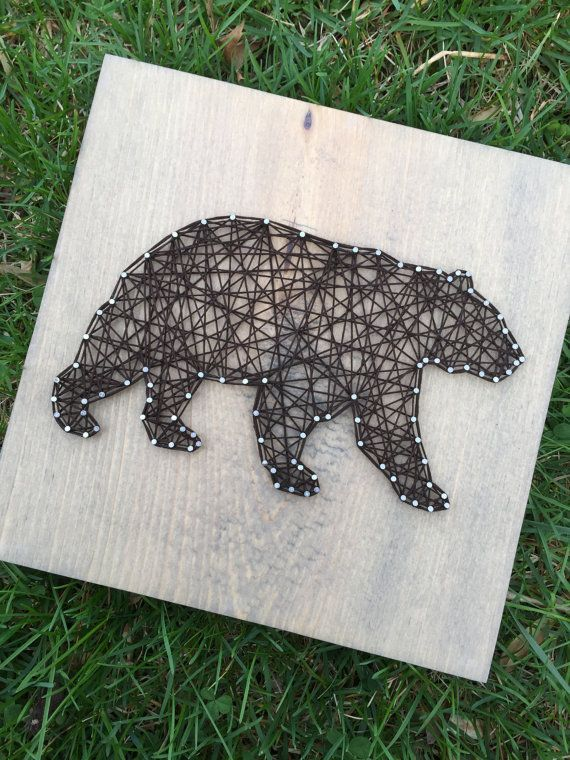 Hey, I found this really awesome Etsy listing at https://www.etsy.com/listing/230009898/made-to-order-string-art-bear-sign