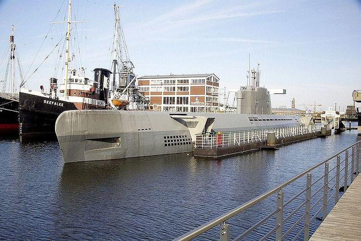 U boat 2540, wilhelm bauer, in Bremerhaven.