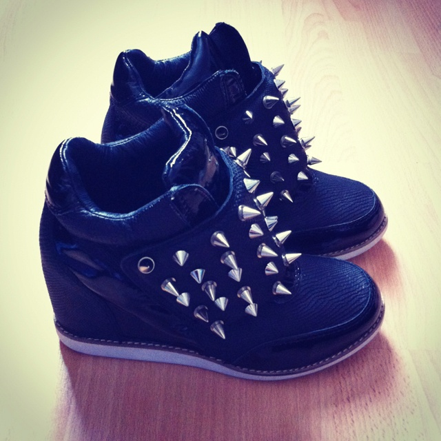 studded sneaker wedges. my guilty pleasure of fashion right now.