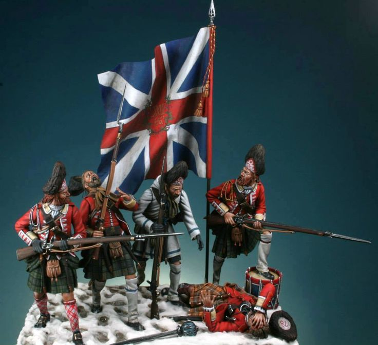 Stunning French & Indian War diorama of the 78th Foot Grenadiers, Battle of Sillery, Quebec, 1760. 54mm by Maurizio Berselli. A Daily Dose for 15june2015 from the Michigan Toy Soldier Company. Find us at: www.michtoy.com