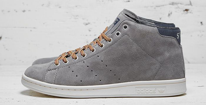best cheap 77717 deac1 Adidas Originals x Mark McNairy 84-Lab Stan Smith Mid Grey Suede