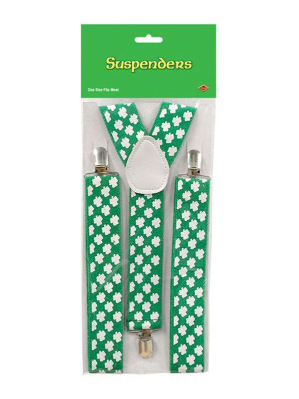 Check out Shamrock Suspenders - St. Patrick's Day Accessories from Wholesale Halloween Costumes