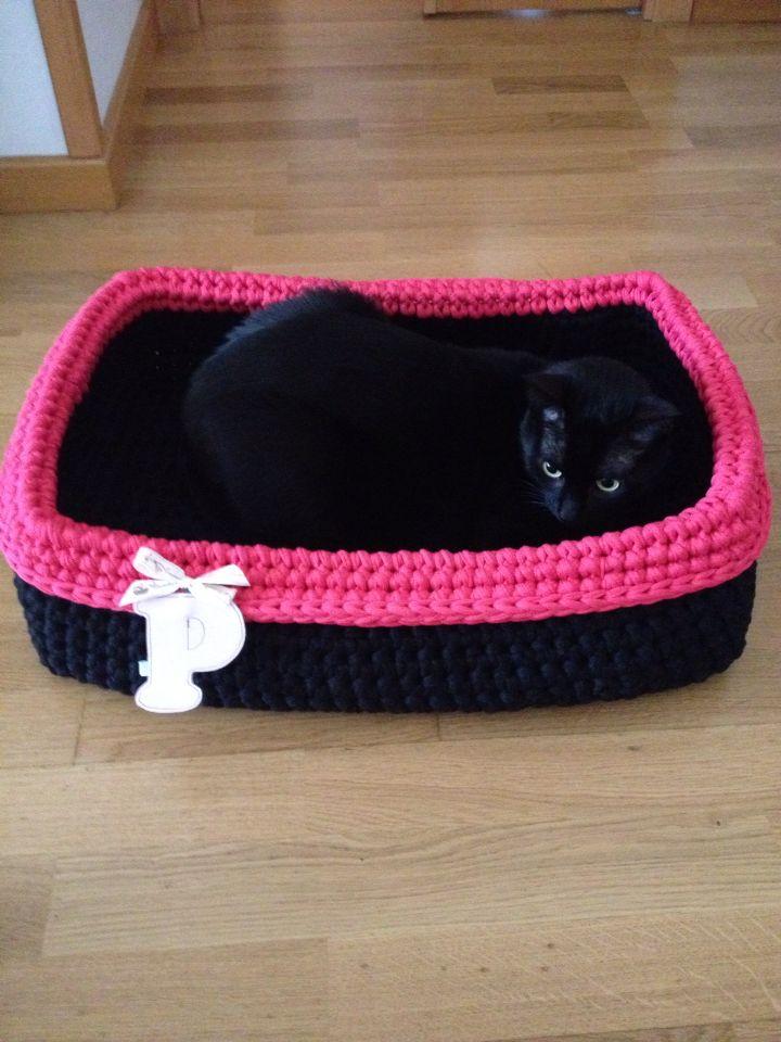 Cesta de trapillo, cama para gatos!!
