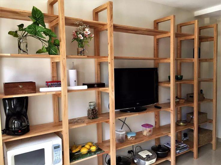 estanteria biblioteca madera paraiso macizo 240x220