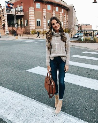 heading to our favorite taco place in boulder for dinner  in this amazing windowpane sweater  25% off today and SO soft!  all outfit details linked via @liketoknow.it http://liketk.it/2ty4I #liketkit #LTKsalealert