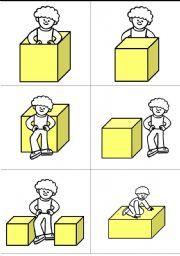 Prepositions of Location. Kinderen voorzetsels leren