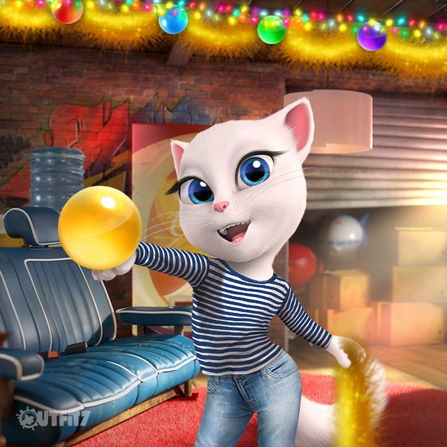 What better way to get into the magical festive spirit than with decorating? xo, Talking Angela #TalkingAngela #LittleKitties #MyTalkingAngela #fun #magic #festive #December #xmas #Christmas #cute #festivetime #TalkingTom #TalkingHank #decorating #bubbles