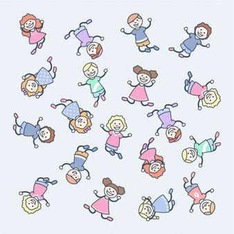Crianças felizes dos desenhos animados