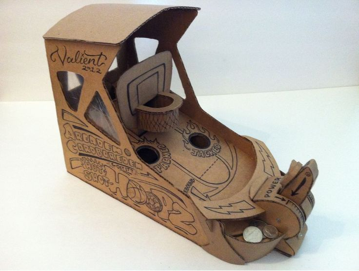 44 best cardboard arcade games images on pinterest for Cardboard for projects