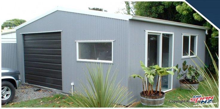 | KiwiSpanNZ garage with sleepout