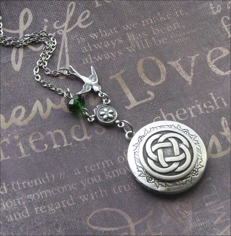 Silver Locket Necklace - Enchanted Celtic Royalty - Jewelry by TheEnchantedLocket - PERFECT Bride Wedding Wife Birthday Gift