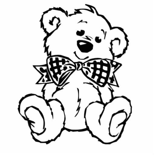 teddy bear cut out template   Teddy Bear with Bow Tie Acrylic Cut Out ...