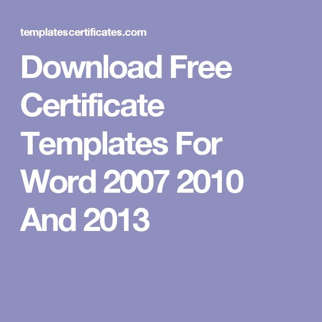 Best 25+ Certificate templates for word ideas on Pinterest - free newsletter templates for microsoft word 2007