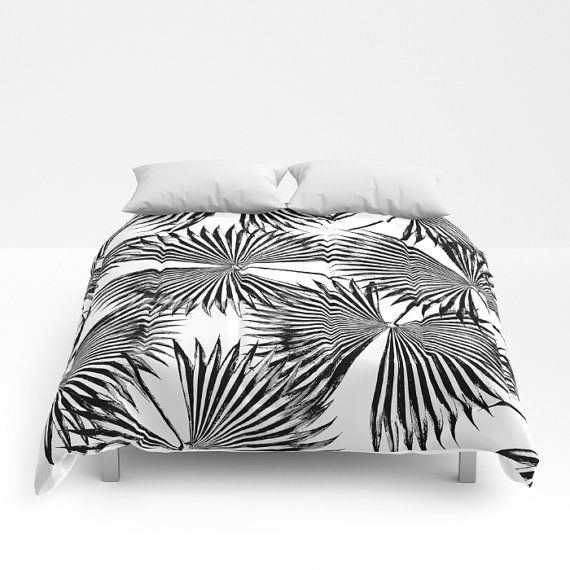 Black & White Comforter Full Queen King Coastal by OlaHolaHolaBaby