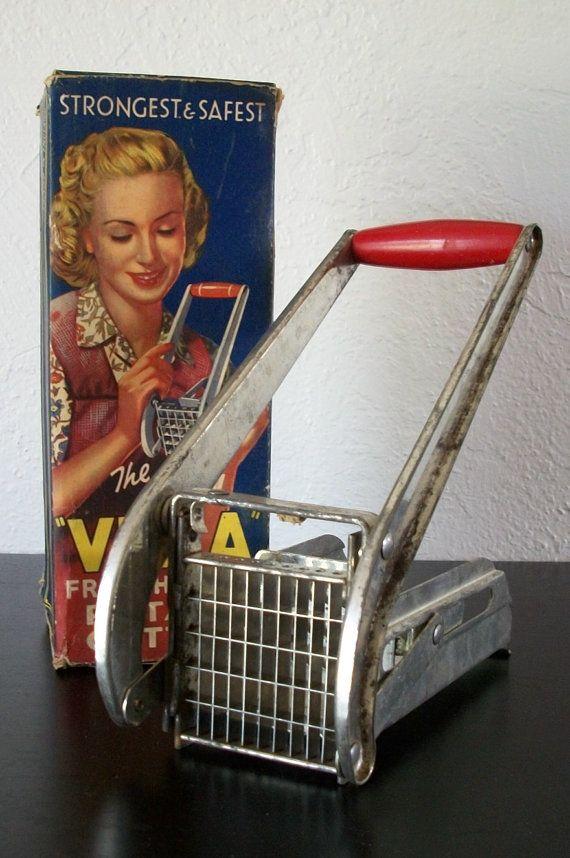 The Villa Vintage 1950s French Fried Potato Cutter in Original Box, $15.00