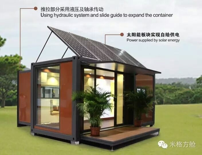Hot Item 20ft Mobile Prefabricated Expandable Container House With Solar Panels Pre Fab Tiny House Container House Design Container House