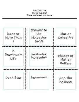 483 best choice boards images on pinterest choice boards tic tac toe choice board matter and states of matter pronofoot35fo Choice Image