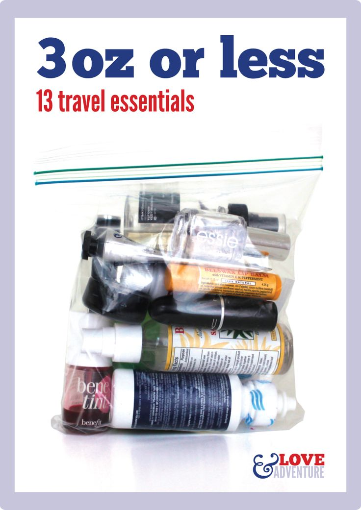 What to pack in your quart size bag when you fly! | Travel ...