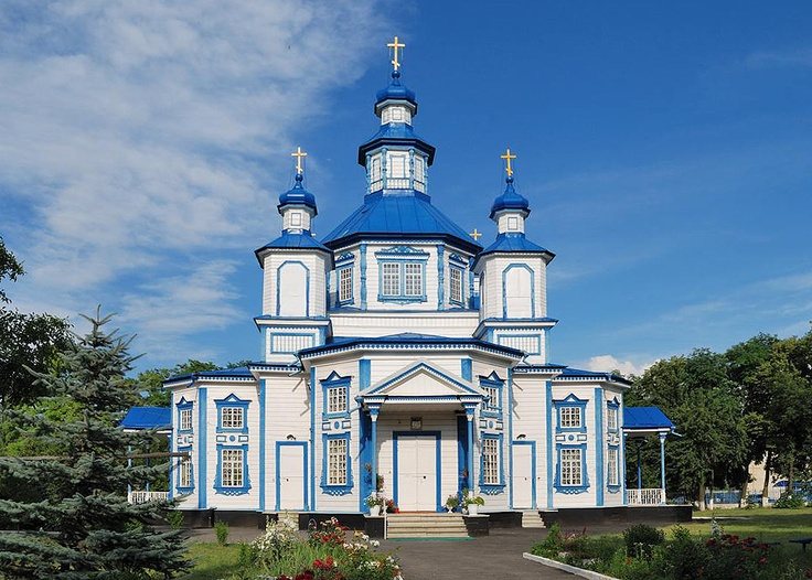Russian orthodox church of the Birth of the Blessed Virgin in Lyssogorskaya cossack village