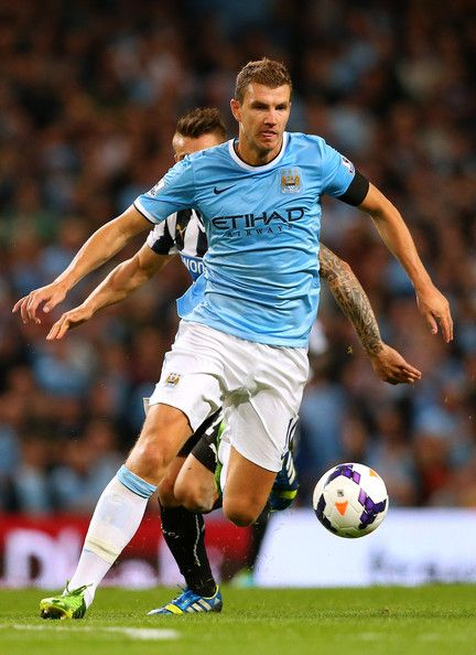 ~ Eden Dzeko of Manchester City against Newcastle United ~