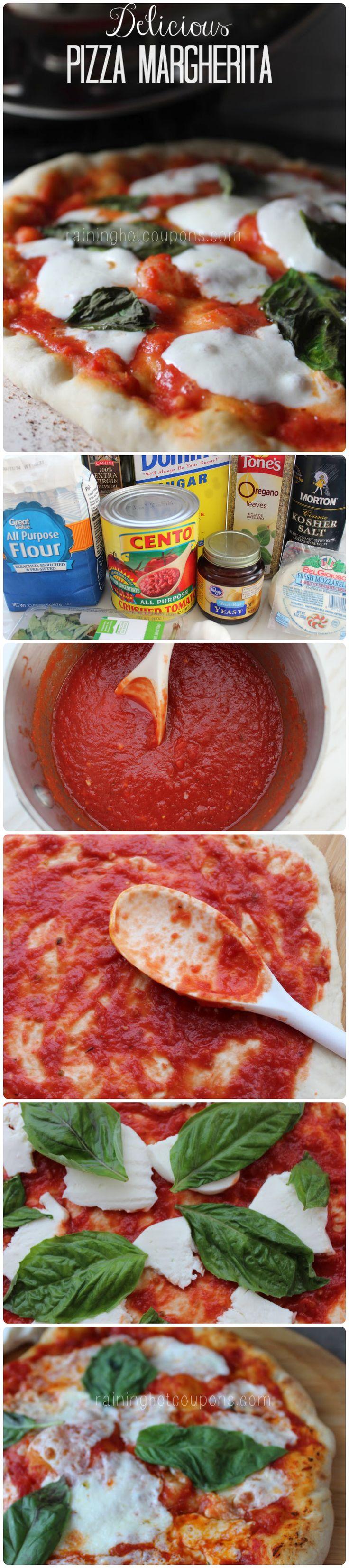 Pizza Margherita Recipe #entree #dinner #italian
