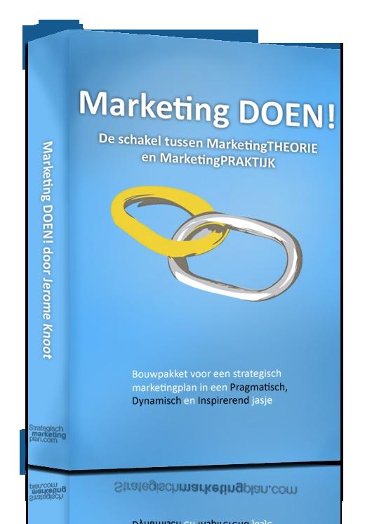 Marketing strategie bepalen voor uw onderneming? Marketing DOEN! is de schakel tussen MarketingTHEORIE en MarketingPRAKTIJK. Download Marketing DOEN!