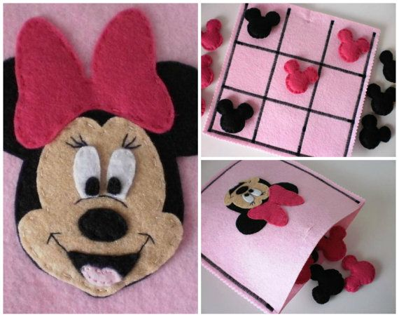 Minnie Mouse Tic Tac Toe Game Set  Girls por twinsandcrafts en Etsy
