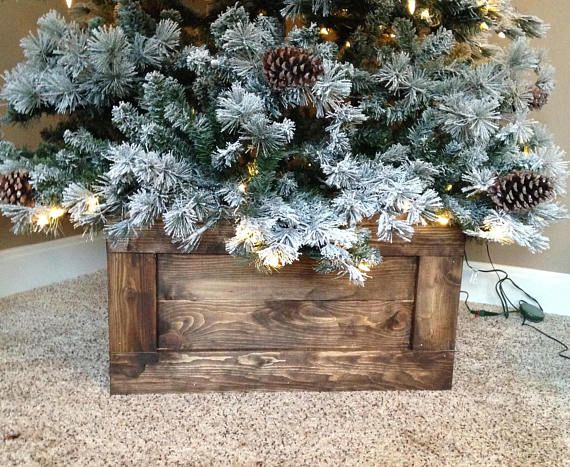 Folding Wood Christmas Tree Box Stand Wood Tree Skirt Farmhouse Tree Skirt Farmhouse Christmas Rustic Tree Stand Rustic Tree Box In 2020 Wooden Christmas Trees Christmas Tree Base Christmas Tree Box Stand