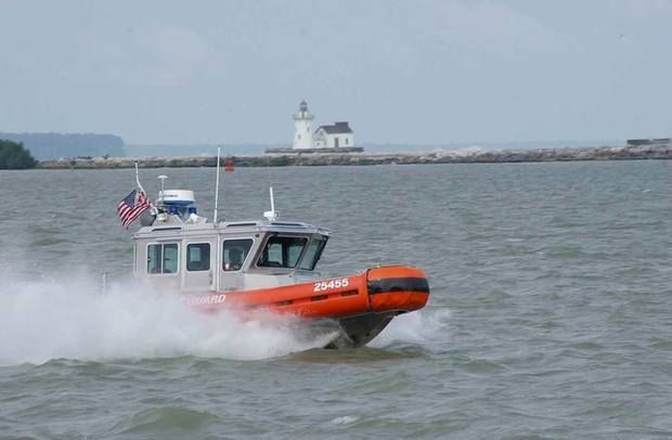 06/25/2017 - Coast Guard helps 33 when rough waters capsize, swamp boats on Lake Erie
