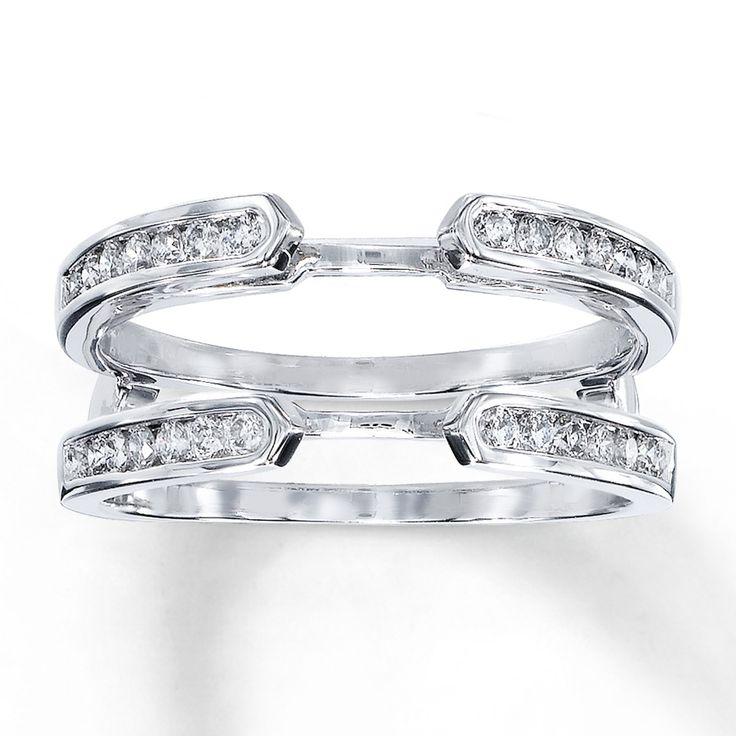 diamond enhancer ring 38 carat tw round cut 14k white gold