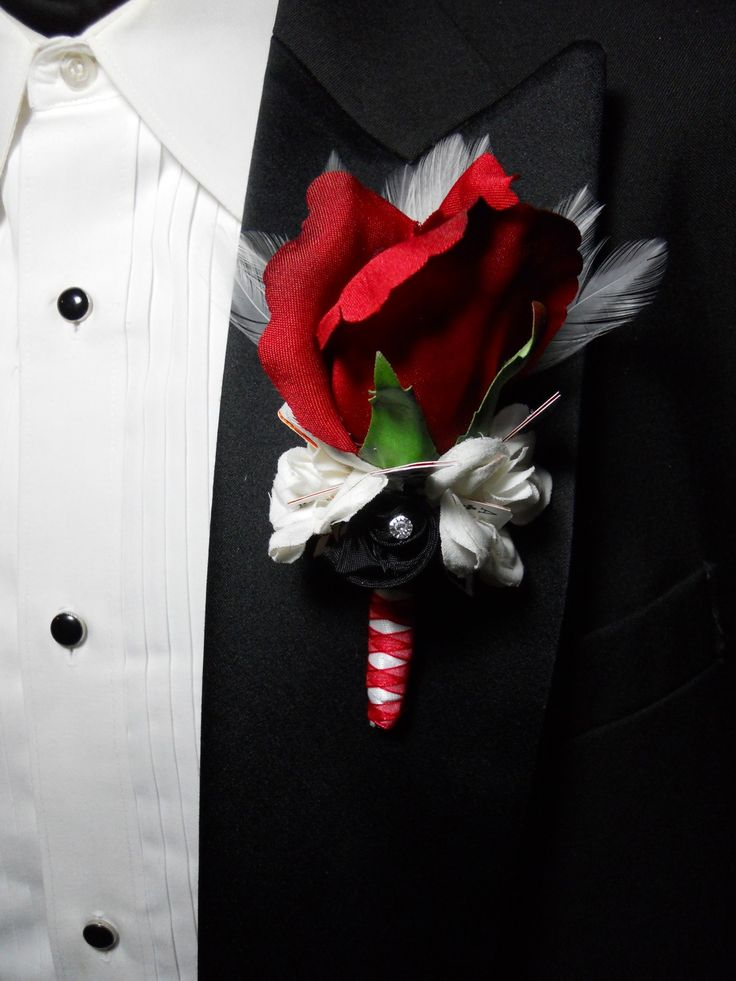 A corsage / k ɔːr ˈ s ɑː ʒ / is a small bouquet of flowers worn on a woman's dress or around her wrist for a formal occasion. Traditionally, they are given to her .