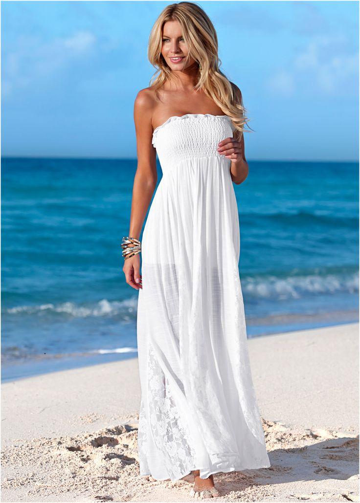 Vestido tomara-que-caia branco  encomendar agora na loja on-line bonprix.de  R$…
