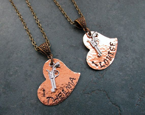 Bronze Thelma & Louise With Arrow Design Stamped by FHGoldDesigns