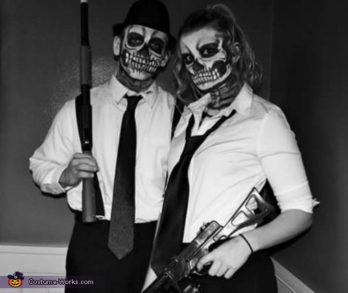 Skeleton Mafia Couple - 2015 Halloween Costume Contest via @costume_works